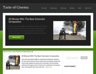 Thumbshot of Tasteofcinema.com