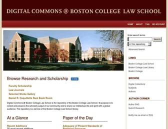 Main page screenshot of lawdigitalcommons.bc.edu