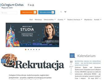Main page screenshot of civitas.edu.pl