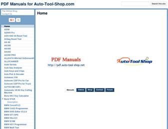 pdf.auto-tool-shop.net screenshot