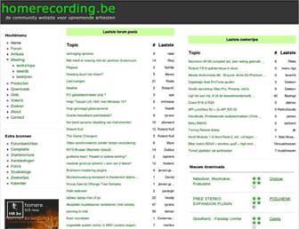 Main page screenshot of homerecording.be
