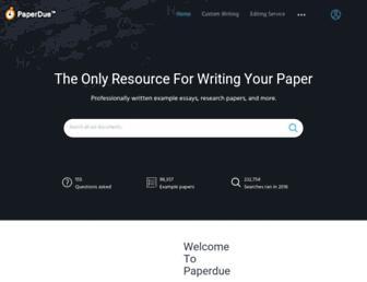 paperdue.com screenshot