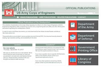 publications.usace.army.mil screenshot