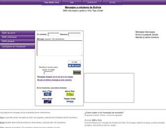 bolivia-sms.com screenshot