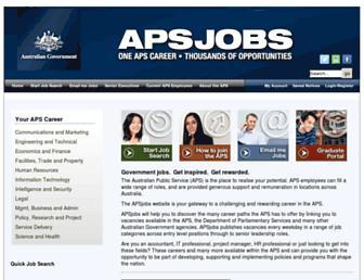 apsjobs.gov.au screenshot