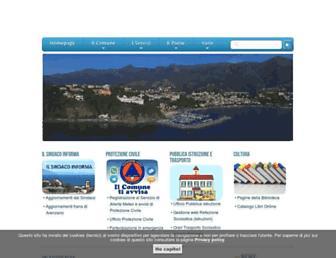 Main page screenshot of comune.arenzano.ge.it
