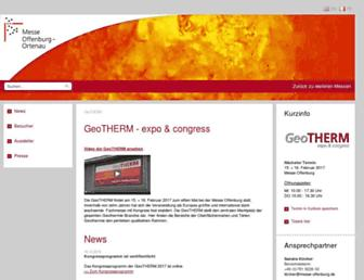 Main page screenshot of geotherm-offenburg.de