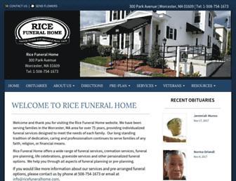 ricefuneralhome.com screenshot