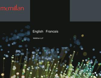 mcmillan.ca screenshot