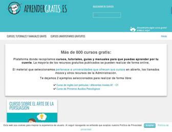 aprendergratis.es screenshot