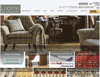loomefabrics.co.uk screenshot