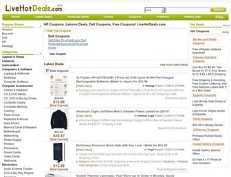 Thumbshot of Livehotdeals.com