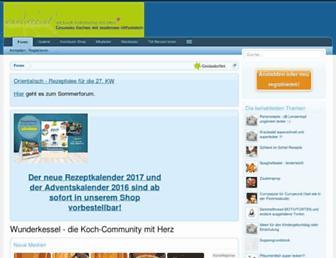 Main page screenshot of wunderkessel.de