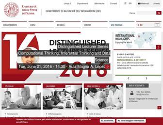 Main page screenshot of dei.unipd.it