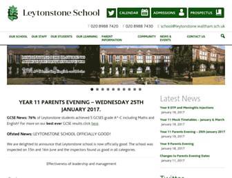 Main page screenshot of leytonstoneschool.org