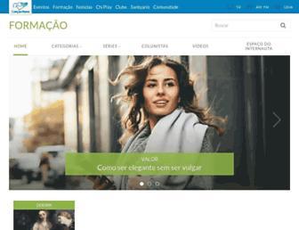 formacao.cancaonova.com screenshot