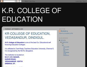 krcollegeofeducation.blogspot.com screenshot