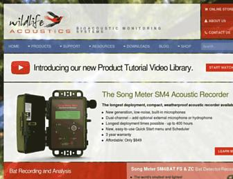 wildlifeacoustics.com screenshot