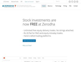 zerodha.com screenshot