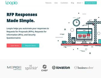 loopio.com screenshot