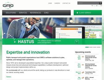 Main page screenshot of giro.ca