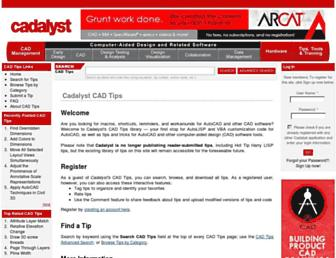 cadtips.cadalyst.com screenshot