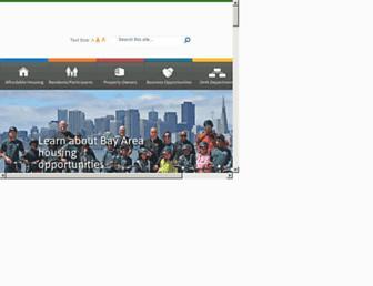 Main page screenshot of oakha.org