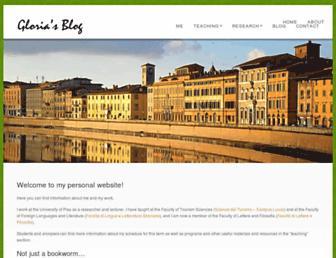 Main page screenshot of gloriacappelli.it