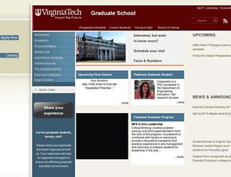 graduateschool.vt.edu screenshot