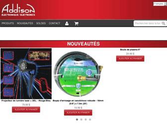 addison-electronique.com screenshot