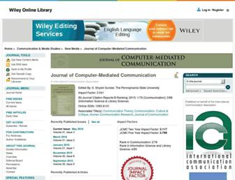 Main page screenshot of jcmc.indiana.edu