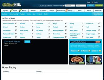 news.williamhill.com screenshot