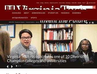 Main page screenshot of vt.edu