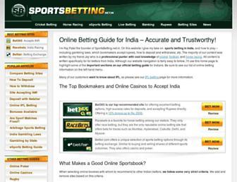sportsbetting.net.in screenshot