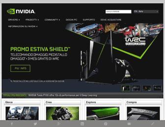 Main page screenshot of nvidia.it