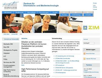 zim.hhu.de screenshot
