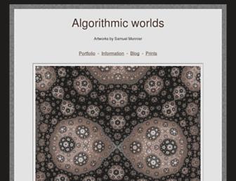 Main page screenshot of algorithmic-worlds.net