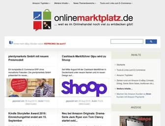 Main page screenshot of onlinemarktplatz.de