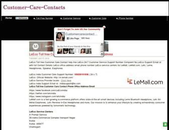 customer-care-contacts.blogspot.com screenshot