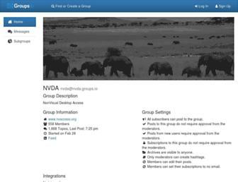 nvda.groups.io screenshot