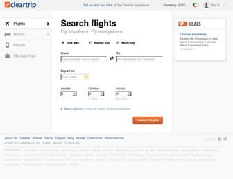 kw.cleartrip.com screenshot
