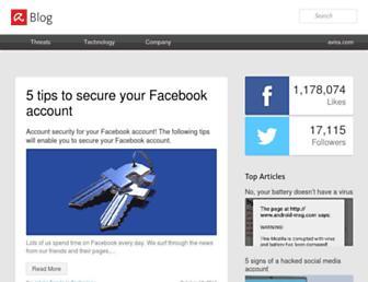 blog.avira.com screenshot