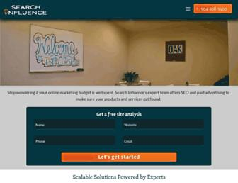searchinfluence.com screenshot