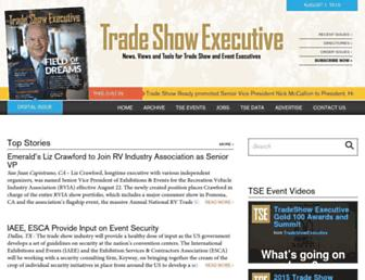 tradeshowexecutive.com screenshot