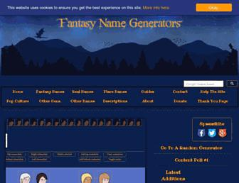 Thumbshot of Fantasynamegenerators.com