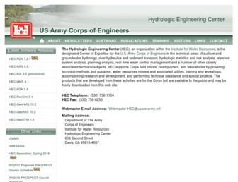 hec.usace.army.mil screenshot