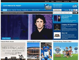 Thumbshot of Citiprivatepass.com