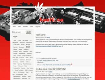 Main page screenshot of koolt.se