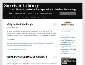 survivorlibrary.com screenshot