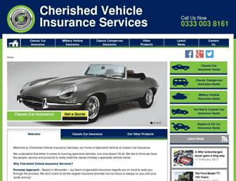 cherishedvehicleinsurance.co.uk screenshot